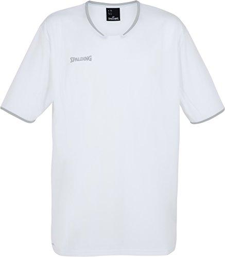 Spalding Mens 300214102_164 T-Shirt, White,Silver