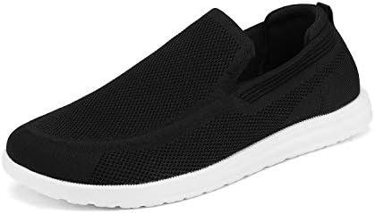 Bruno Marc SUNVEN Zapatillas Deportivo para Hombres Zapatillas de Deporte Hombres sin Cordones Running Zapatos Gimnasia Entrenamiento Sneakers Transpirables Negro 39.5 EU/7 US
