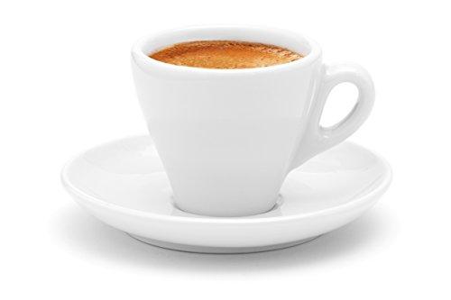 Luxpresso dickwandige Espressotasse »Italia«, weiß aus Porzellan - 1 Stück
