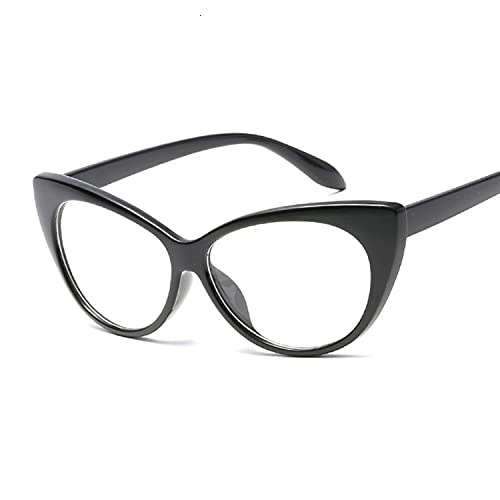 Hanpiyignstyj Gafas De Sol, Lindo Gafas de Sol Gato Retro Mujeres Negro Blanco triángulo Retro Gafas de Sol Mujeres UV400 (Lenses Color : Black)