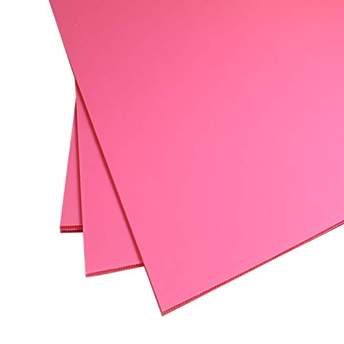 Premium Corrugated Plastic Sign Boards White, Black, Yellow & Blue Available in Multiple Sizes (18 x 24-2 Pack, Pink)