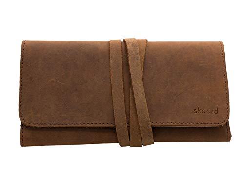 skaard Astuccio XL | Vera pelle di bufalo | Per matite e pennelli | Marrone