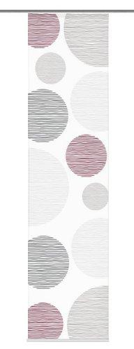 Home Fashion 87533-756 Schiebevorhang Digitaldruck Borden, Seidenoptik, 245 x 60 cm, Bordeaux