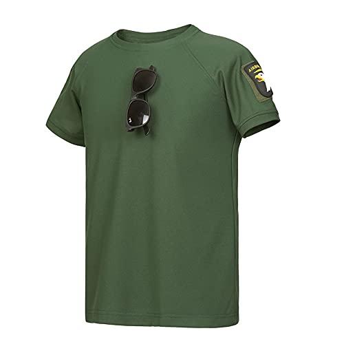 Camiseta Hombre Cuello Redondo Color Sólido Manga Corta Hombre Verano Delgada Clásica Básica Camisa Deportiva Hombre Deportes Y Ocio Nueva Hombre Tshirt C-Green L