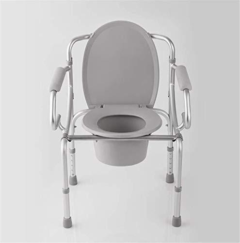 Hem fällbara sängbord Kommode Sits Toalett Säkerhetsram Bärbar toalett Kraftig stålsäng Kommode stol med Commode Hink 93