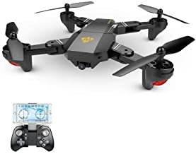 $54 » visuo xs809hw Drone-Body Only VISUO XS809HW Drone with Camera, Live Video FPV RC WiFi Quadcopter with 720P HD 2MP 120° Wide-Angle Camera Altitude Hold, Headless Mode, One Key Return, APP Control Toys