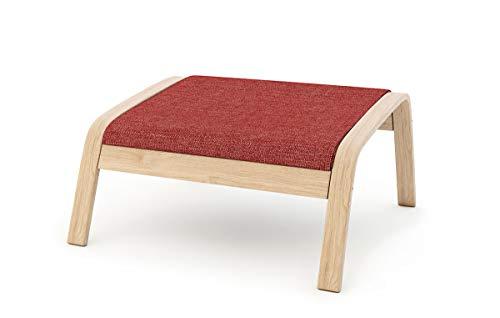 Masters of Covers - Funda de repuesto para sillón de Ikea «Poäng», Tetron Cotton - Rojo, Footstool Design 2