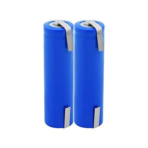WSXYD Botón Superior 3.7v Icr 18650 2800mah Li-Ion BateríAs De Litio para Control Remoto Mini Ventilador Batería para CáMara 2pieces