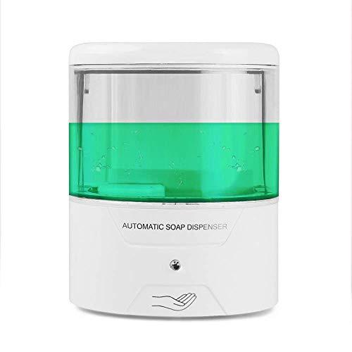 Sensor Dispensador Blanco 600 Ml de Infrarrojos de Inducción Inteligente sin Contacto de Jabón Líquido Utomatic Dispensador de Jabón para la Cocina durable/A