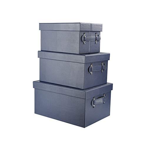Bestand doos, multifunctionele organizer driedelig pak (leer), meerdere kleuren