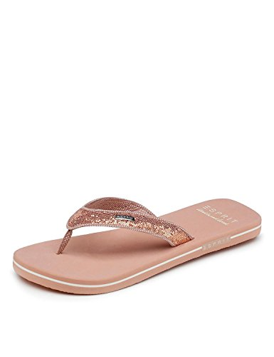 ESPRIT Damen Badeschuhe Glitter Thongs 018EK1W043-685 rosa 475484