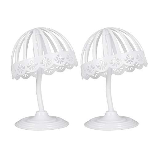 PRETYZOOM 2 Piezas Expositor de Sombreros Ajustable Tapa de Plástico Que Muestra El Soporte de Mesa Hueco Titular de La Peluca Organizador para El Barbero Doméstico