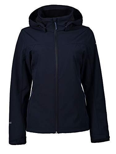 ICEPEAK Softshell-jacke für damen BRENHAM, dunkel blau, 42