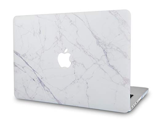 LuvCaseLaptopCaseforMacBookPro 13' (2020/19/18/17/16 Release) with/Without Touch Bar A2251/A2289/A2159/A1989/A1706/A1708 RubberizedPlasticHardShell Cover (Ice Marble)