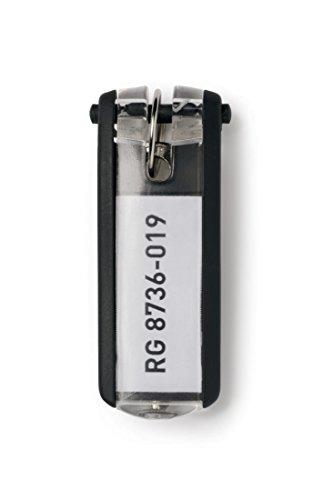 Durable 195701 Schlüsselanhänger Key Clip, 6 Stück, schwarz