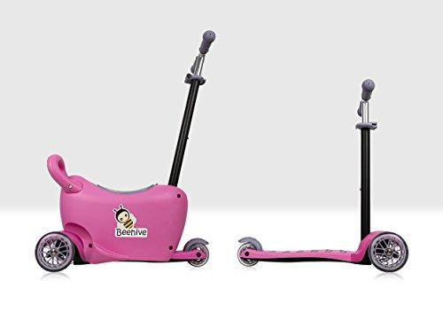 Preisvergleich Produktbild Beehive Toys 3-in-1-Roller und Rutschspielzeug für Babys und Kleinkinder,  15 Jahre,  mit Lenker,  Sitz und Aufbewahrung,  Pink