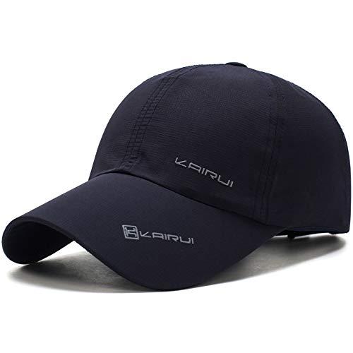 Gorra de béisbol de los Hombres de Verano Gorra de béisbol de Secado rápido al Aire Libre, protección UV para Mujeres Sombrero para el Sol 5 Ajustable