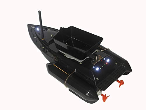 Riiai Fishing Bait Boat Multifunctional Remote Control Fishing Bait Boat Runtime 8Hours 1200g Anti Grass Wind 300M with LED Navigator Light At Night RC Fish Bait Boat