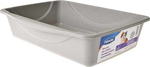 Petmate Open Cat Litter Box,Mouse Grey, Small (14'x10.5'x3.5')