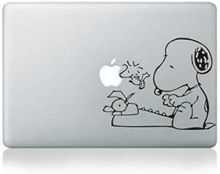 ملصقات الكمبيوتر المحمول - ملصق بتصميم سنوبي والفول السوداني/Woodstock مصنوع من الفينيل للكمبيوتر المحمول DIY 11 بوصة / 13...