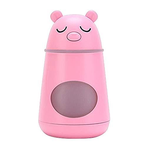 JF-Xuan 3 en 1 USB Silencio humidificador de aire en la forma del oso aromaterapia aceite esencial del difusor del aroma de vapor frío del coche del purificador con LED Night Lights Vaporizadores Vent
