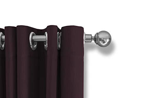 LIFA LIVING Verduisterende Gordijnen, Wijnrood Polyester Gordijn, Modern Geluidswerend Gordijn met Haken voor Woonkamer, Slaapkamer, 150 x 250 cm