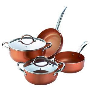 XSQUO Useful Tech Anticipate a Las Rebajas !! Oferta Navidad !! Batería de Cocina Profesional de Cobre con 6 Elementos. Vital Copper