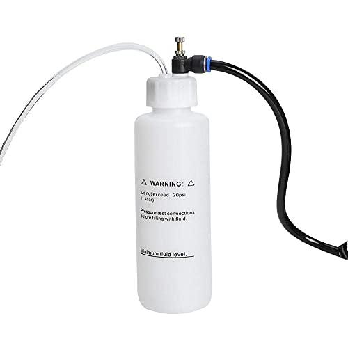 Botella de purga de embrague de freno de coche de 500 ml, kit de purga de líquido, herramienta de bomba de vacío accionada por aire