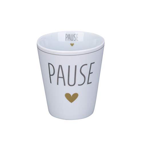 Krasilnikoff - Becher, Tasse - Happy Mug - Pause - Höhe: 10 cm - Volumen: 330 ml
