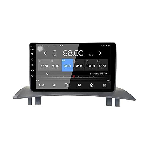 Android 10.0 Car Stereo Sat Nav GPS Reproductor de música de audio multimedia con 4G Wifi Receptor de radio FM AM Enlace de espejo con pantalla táctil HD para Renault Megane 2 2004-2008,4 Core 4G + Wi