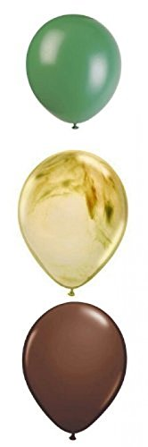 Camouflage Camo Party Supplies Latex Balloons 12 Count; New;