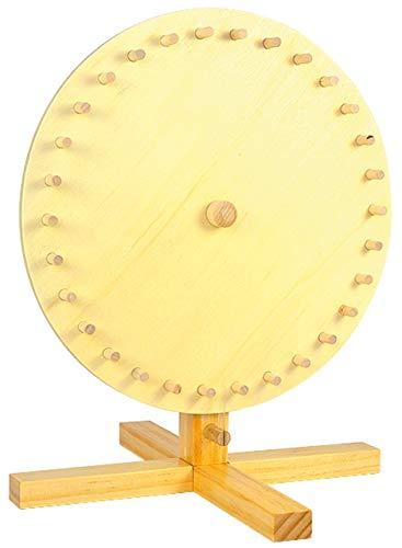 Glücksrad zum selbst Gestalten / mit 5 Blanko Kartons / Fläche Ø 30 cm / Farbe: Holzständer: Natur, Kartons: Weiss