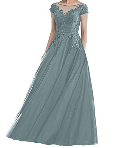 Prom Dress Long Formal Evening Dresses Lace Mother of The Bride Dress Tulle Prom Dresses Dusty Sage