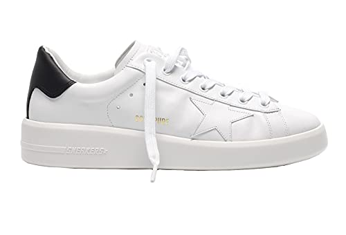Golden Goose Pure Star White Leather-Black Heel (Numeric_37)