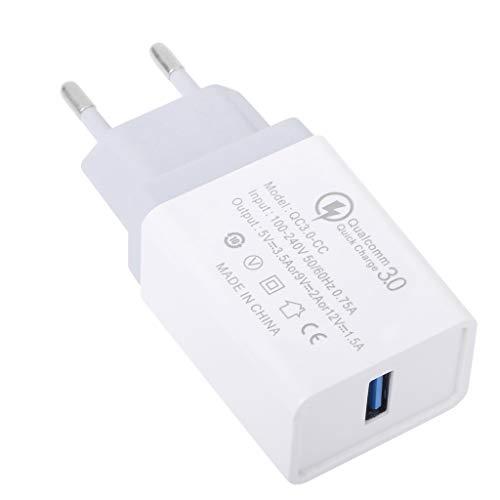 JHD Enchufe de la UE Quick Charge QC 3.0 Adaptador de Cargador rápido USB para iphoneX 8 iPad Xiaomi