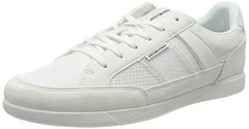 JACK & JONES Herren JFWBYSON MESH Mix White Sneaker, 44 EU