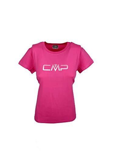 CMP Damen Stretch T-Shirt Logo 30D6536P, Bouganville, D40