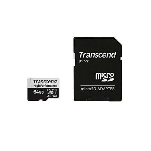Transcend microSDカード 64GB UHS-I U3 Class10 V30 A2 対応 (最大転送速度100MB/s) TS64GUSD330S