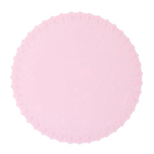 Hunpta Bol Couvercle en silicone film plastique pour four à micro-ondes réfrigérateur Fresh Bol d'étanchéité 22*22 rose