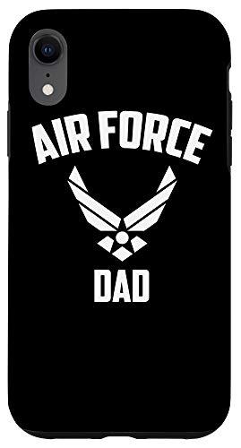iPhone XR Cool Air Force Dad Gift   Best Proud Military Veteran Men Case