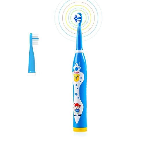 ZMH Wasserdicht Wiederaufladbare USB-Soft-Bristle Lustige Karikatur Singen Musik Sonic Kids Elektrische Zahnbürste Mit Timer Kinder Blue Boy