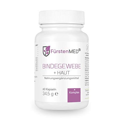 FürstenMED® Bindegewebe Kapseln + Straffe Haut, Anti Cellulite Orangenhaut - Hochdosierter Komplex - OPC, Beta Carotin, L-Lysin, L-Prolin - Vegan & Ohne Zusätze