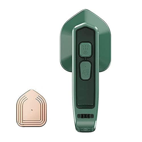 MOXIAONAI 1 / 2Pcs Micro Plancha de Vapor Profesional Inalámbrico, Mini vaporizador portátil de Tela de Mano, Mini máquina de Planchar Plegable Vaporizador Ligero para Ropa (Green,1pcs)