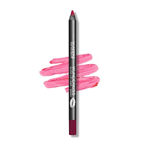Wunder2 Lips Liner Gloss pour Lèvres, Brillance Longue Tenue, Teinte Berry Pink, 1 Unité
