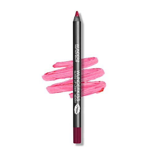 WUNDER2 WUNDERKISS GLOSS LIP LINER - Crayon à lèvres fini Gloss Longue Tenue, Teinte Berry