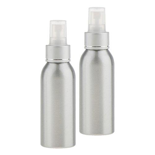 MagiDeal 2 Piezas Botellas Spray Perfume Aluminio