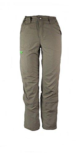 CRIVIT OUTDOOR Jungen Trekkinghose Zip Off Beige/Grün 122/128