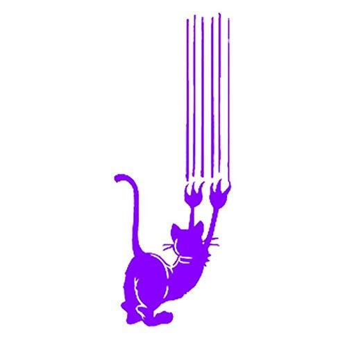 Autosticker, kat, krassen, grappige sticker, afneembaar PVC, vinyl voor lichaam, kap, bagage, motorfiets, kajak, autodecoratie, 7,3 x 20 cm (5 stuks)