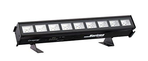 DragonX Nano Horizon Cool White Color LED Façade Slim Wall Wash Mega Lighting Bar/Professional DJ Stage Strip Strobe Light Package Compatible with DMX Controller