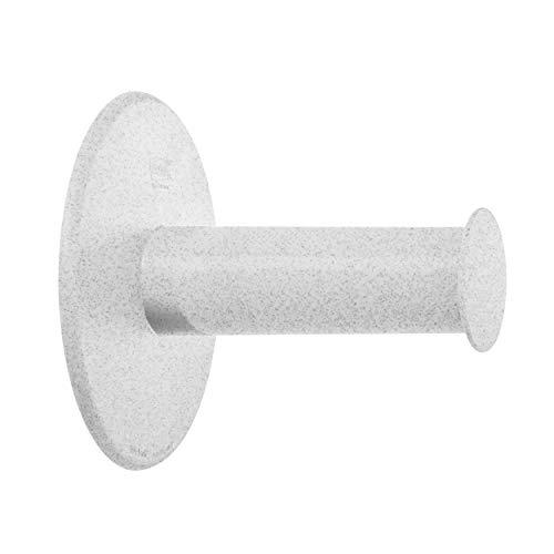 Koziol WC-Rollenhalter Plug N Roll, Toilettenpapierhalter, WC-Rollen-Halter, Thermoplastischer Kunststoff, Organic Grey, 5235670